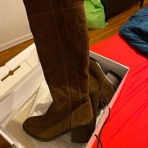 Aldo brown suede boots